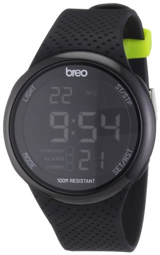 Breo Men's Digital Watch with Black Dial Digital Display and Black Plastic or PU Strap B-TI-TRK7