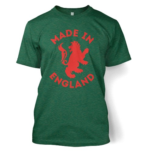 Kids Tshirts PP Made In England Red Men s T shirt Inspired By The 2012 Olympics X Large 46 48 Chest Antique Jade Dome