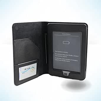 Kiwi Cases Amazon Kindle Touch eReader Black Leather Executive Folio Case - SRX Series (Limted Time Sale!)