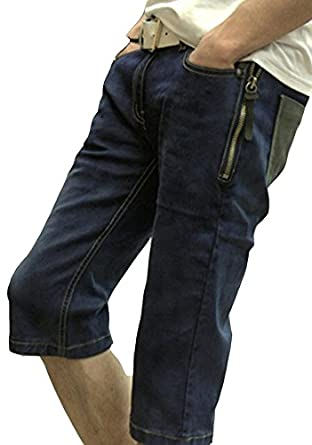 Summer Seven Jeans Mens Shorts Pants Male Pants Mosaic