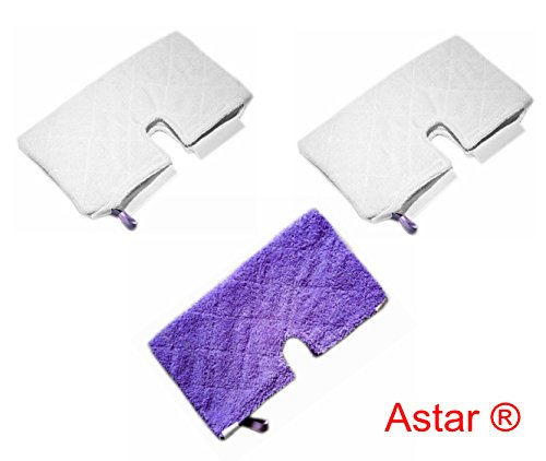 Astar ® 3 Pack New Rectangle Microfiber Pads for Shark Pocket Steam Mop S3550 S3501 S3601 S3901 (Shark Steam Mop 3601 Pads compare prices)