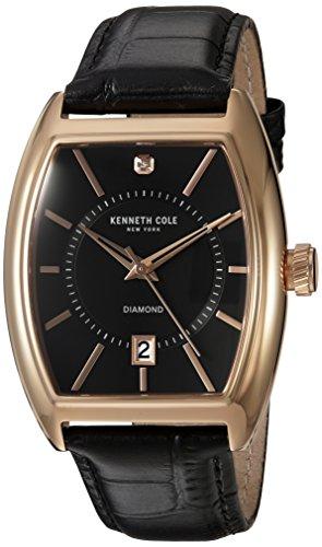 kenneth-cole-new-york-de-los-hombres-de-diamante-de-cuarzo-reloj-vestido-de-cuero-y-acero-inoxidable