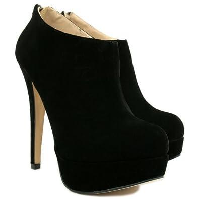 stiefeletten ankle boots schuhe stiletto absatz plateau. Black Bedroom Furniture Sets. Home Design Ideas