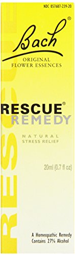 Bach Rescue Remedy Original Natural Flower Essence, Dropper, 20 ml