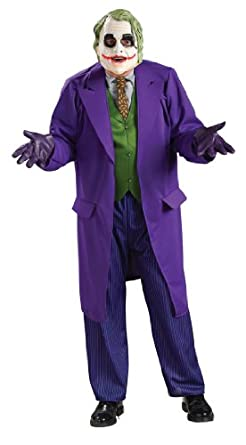 Batman The Dark Knight Deluxe The Joker Costume, Black/Purple, Standard