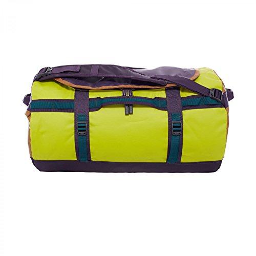 The North Face - Borsone da viaggio unisex base camp, colore verde (depth green/venom yellow), taglia S (53 x 32,5 x 32,5 cm, 50 L)
