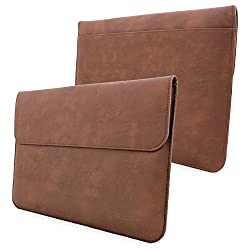 Snugg Surface Pro 3 Case - Leather Sleeve with Lifetime Guarantee (Brown) for Microsoft Surface Pro 3