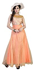 Anbazaar Orange Net Gown
