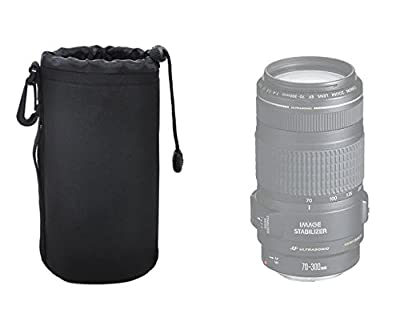 Large Neoprene Soft Lens Pouch For Tamron AF18-270mm f/3.5-6.3 Di II VC PZD AF Lens, Tamron 18-200mm f/3.5-6.3 XR Di-II Macro Lens, Tamron SP 70-300mm f/4-5.6 Di VC USD Telephoto Zoom Lens, Tamron Zoom Super Wide Angle 18-200mm f/3.5-6.3 XR Di-II LD Asphe