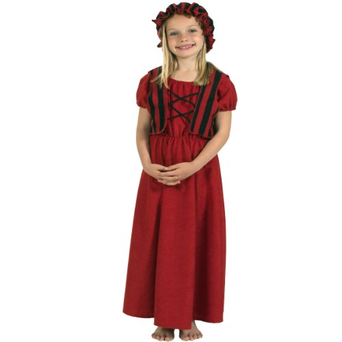 Molly Colonial Girl Costume For Kids 8-10 Years front-1030130