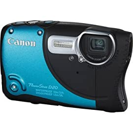 Canon PowerShot D20 12.1 MP Digital Camera (Blue)