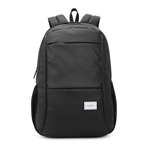 Niksa® PCバッグ パソコンバッグ 通学 ・ 通勤 ・ 出張 多機能 大容量 耐水素材 (ブラック)