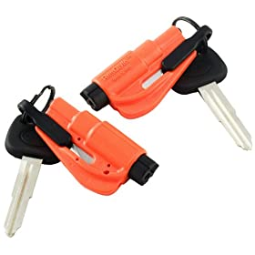 ResQMe GB0-RQMTWIN-O Orange Keychain Version of the Original LifeHammer - Pack of 2