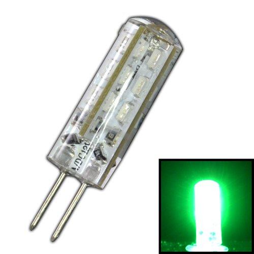 Dimmbare G4 LED mit 1,5 Watt DIMMBAR und 24 SMDs GRÜN - grünes Licht 12V DC für Dimmer Halogenförmig Stiftsockel 360° Leuchtmittel Lampensockel Spot Halogenersatz Lampe