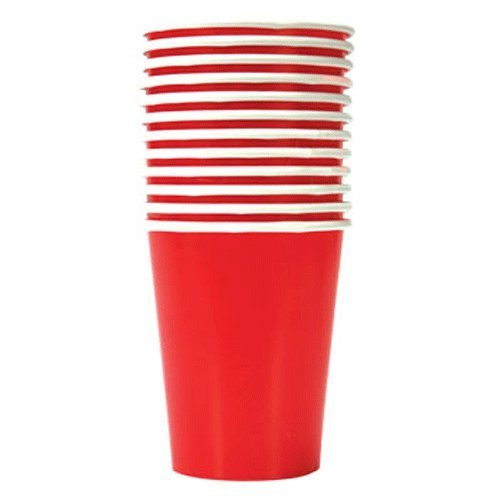 Party Supplies - Red Paper Party Cups, 9 oz., 12-ct. Packs (Set of 2)