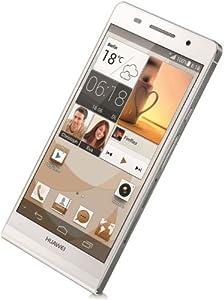 Huawei Ascend P6 Smartphone débloqué 4,7 pouces Android 4.2 Jelly Bean 8Go Bluetooth USB Blanc