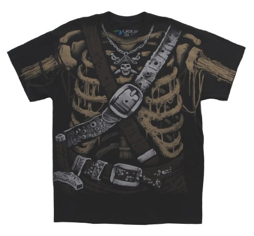 Liquid Blue Men's Pirate Bones Costume T-Shirt