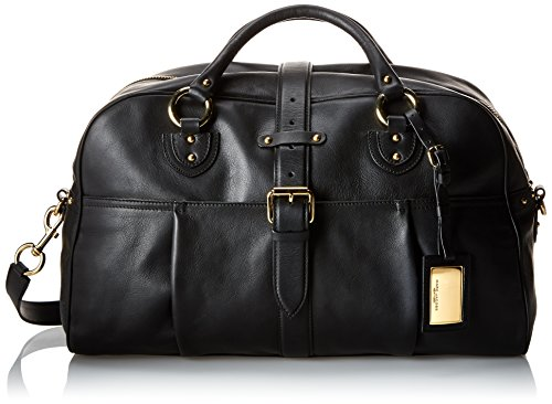 Marc Jacobs Men'S Leather City Weekender, Black, One Size