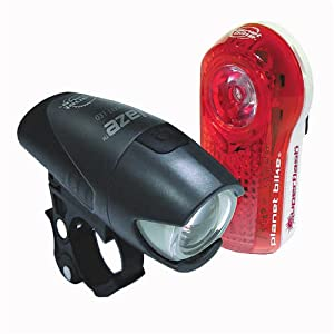 Planet Bike 3040 Superflash Tail Light and Blaze Headlight Light Set by Planet Bike