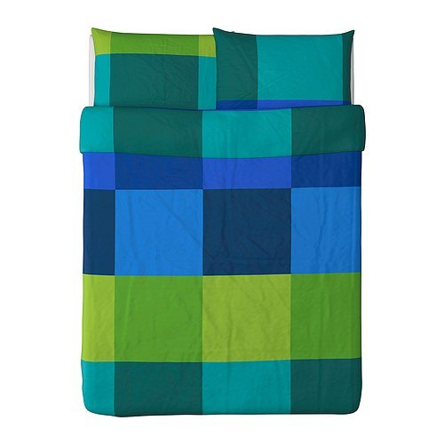 Ikea Brunkrissla Duvet Cover and Pillowcases, Full/Queen, Blue (Ikea Sheets Queen compare prices)