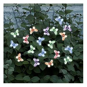 Smart Solar 3705MR20 Solar Light String 20 Multi Color LEDs with Translucent Butterfly Covers