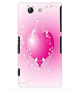 ColourCraft Lovely Heart Design Back Case Cover for SONY XPERIA Z4 MINI / COMPACT