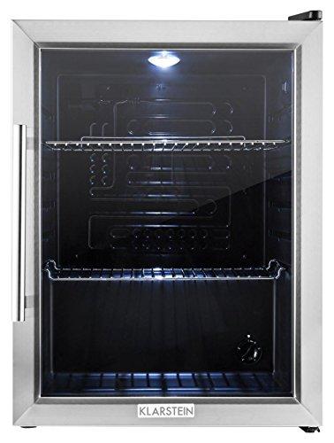 Klarstein-Beersafe-XL-Rfrigrateur-de-60-litres-avec-porte-en-verre-de-Classe-A-2-tagres-temprature-rglable