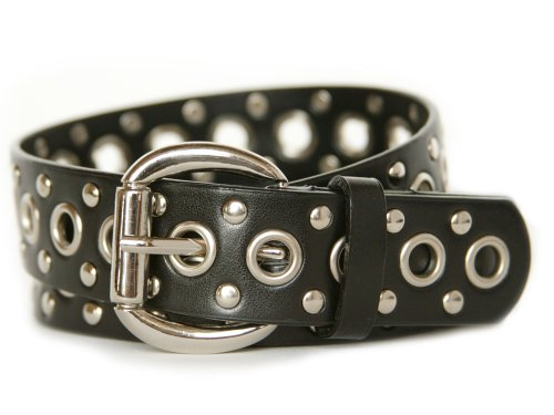 Nickel Free Black Studded Belt -36""