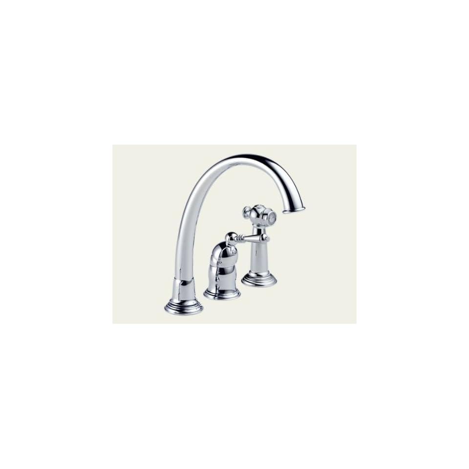 Brizo 61201 PC136   Providence Single Handle Kitchen Faucet With Spray   Chrome Finish