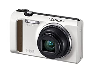 Casio High Speed Exilim Ex-ZR400 Digital Camera White EX-ZR400WE