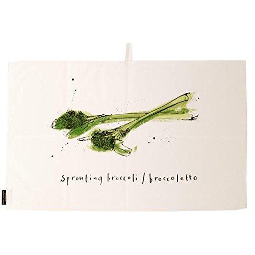 Ruth Jackson Cotton brocoli et tomate Torchon Set 2 par paquet