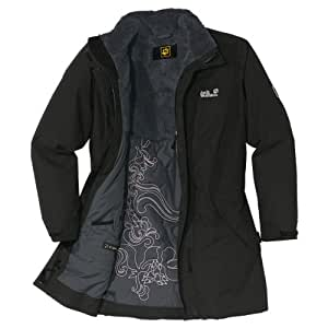 Jack Wolfskin Damen Mantel 5th Avenue Coat, Black, XS, 12198-600001