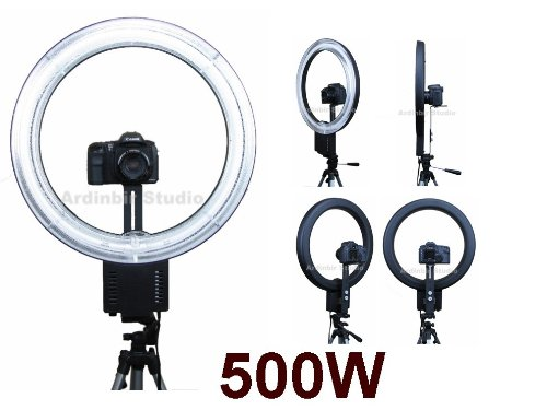 Ardinbir Photography 500W 5400K Macro Ring Light Lamp