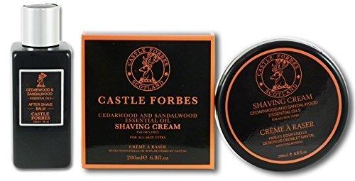 castle-forbes-santal-bois-de-cedre-huiles-essentielles-150ml-baume-apres-rasage-et-200ml-creme-de-ra