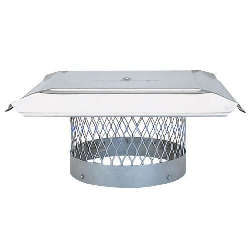 Great Features Of Chimney 10345 8 Inch HomeSaver Pro Stainless Steel Round Cap 3/4 Inch Mesh