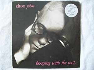 John, Elton Sleeping With The Past LP Rocket 8388391 EX/EX 1989 with inner