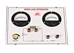 M. K. Enterprises Ohms Law Apparatus Colour- White, Regulted Power Supply of 0-5V