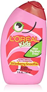 L'Oreal Kids Strawberry Smoothie 2-in-1 Shampoo for Extra Softness, 9.0 Fluid Ounce