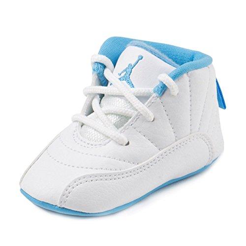 Nike Baby Boys Jordan 12 Retro Gift Pack White/Metallic Gold-University Blue Leather Size 1C