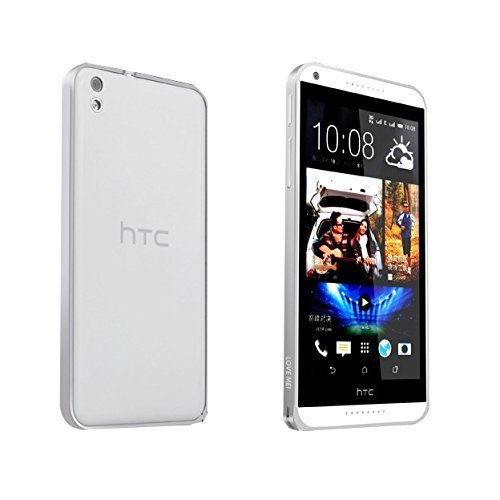 Kapa Ultra thin 0.7mm Aluminum Metal Frame Bumper Cover Case For HTC Desire 820 - Silver