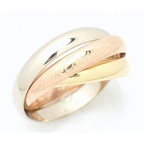 [カルティエ] Cartier トリニティ ドゥ カルティエ リング 指輪 3連 スリーカラー K18 750 YG WG PG ゴールド #56 B4086156 B4086100