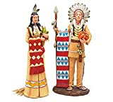 Large Man And Woman Indian Figurine For Thanksgiving,Holiday And Room Decor