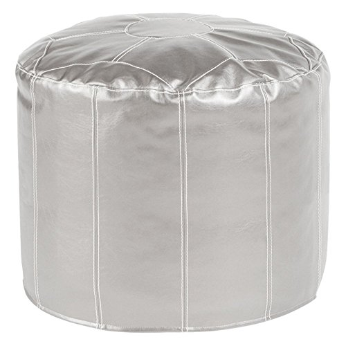 Howard Elliott 872-880 Shimmer Pouf Ottoman, Tall - 1