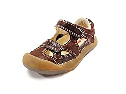 HLT Toddler/Little Kid Double Strap Brown Sporty Sandal [US 10]