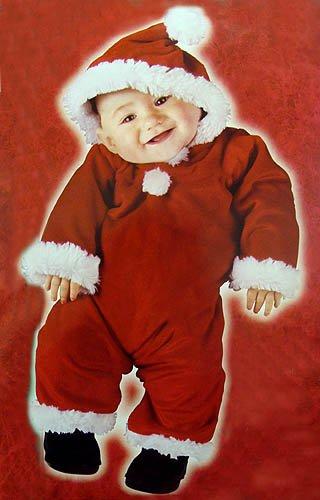 Santa'S Little Helper Christmas Baby Costume - Size Large (6-12 Months)