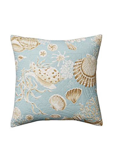 Quilted Throw Pillow, Sea Shells - 14x14