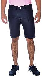 Klorophyl Men's Cotton Shorts (KS1601_36, Blue, 36)