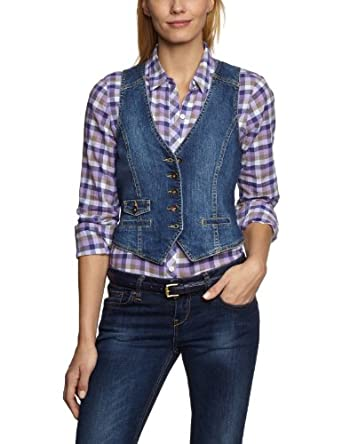 eddie bauer damen jeansweste 1151127 gr 32 xs blau denim bekleidung. Black Bedroom Furniture Sets. Home Design Ideas
