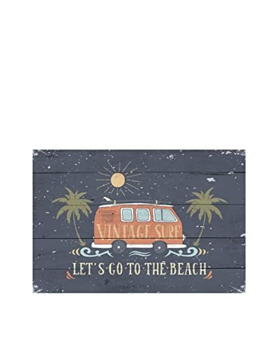 LITTLE NICE THINGS Panel Decorativo Vintage Surf