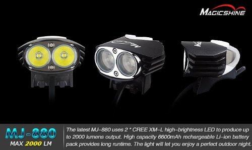 マジックシャイン 自転車用LEDライト ★ Magicshine MJ-880 特注モデル ★ CREE XM-L U2 2灯 【2200ルーメン】